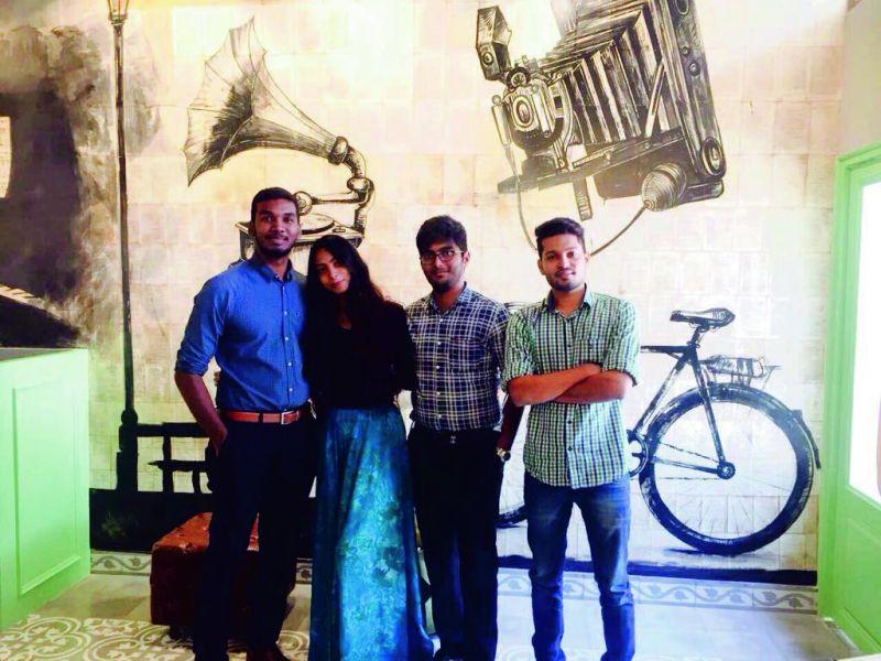 The core team —Sabarish, Masiha, Karthik and Bhanu