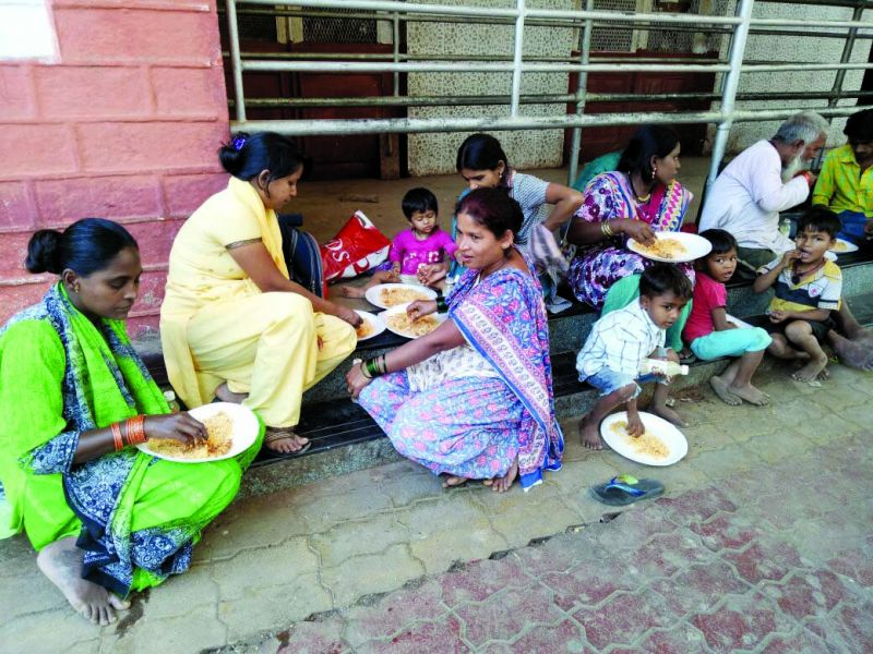 Food served to those in need by dabbawalas