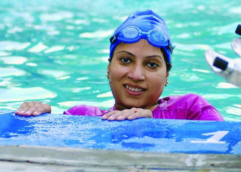 Madhavi Latha Prathigudupu, former national paralympics swimming champion