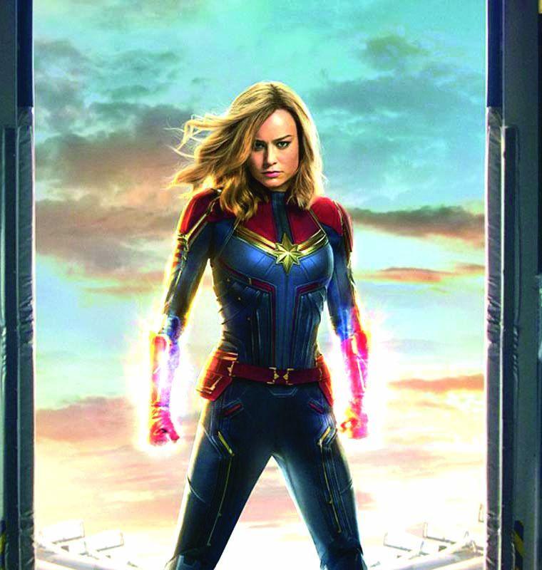 A still from Brie Larson as Captain Marvel