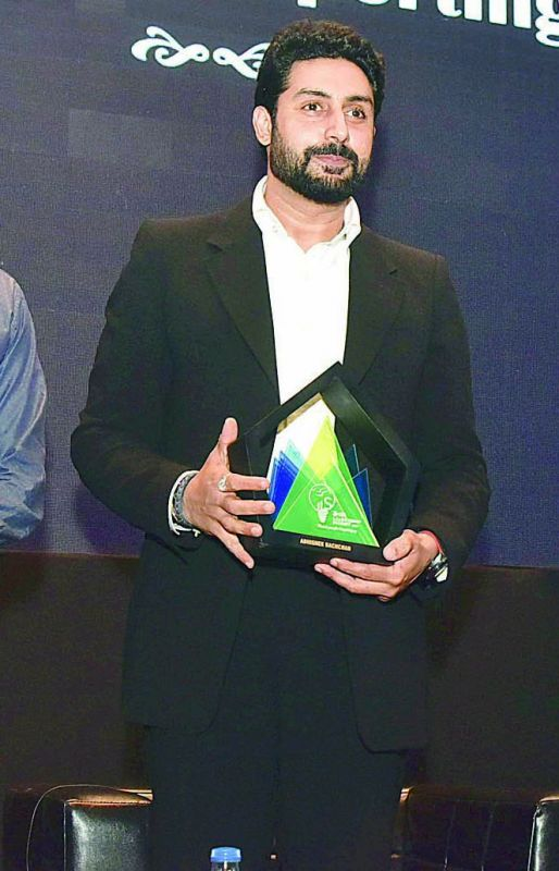 Abhishek Bachchan was the guest at the second day of the Indian School of Business Summit