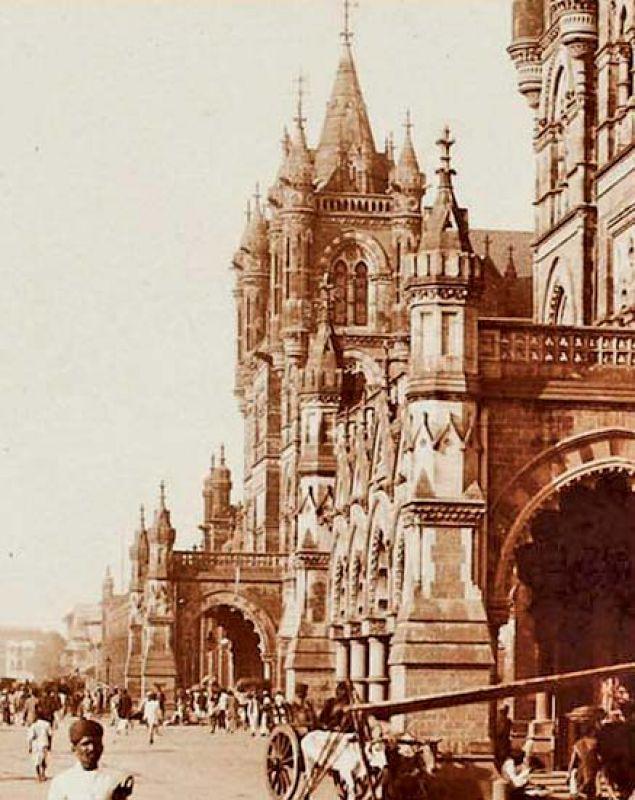 A photograph of Chhatrapati Shivaji Terminus.