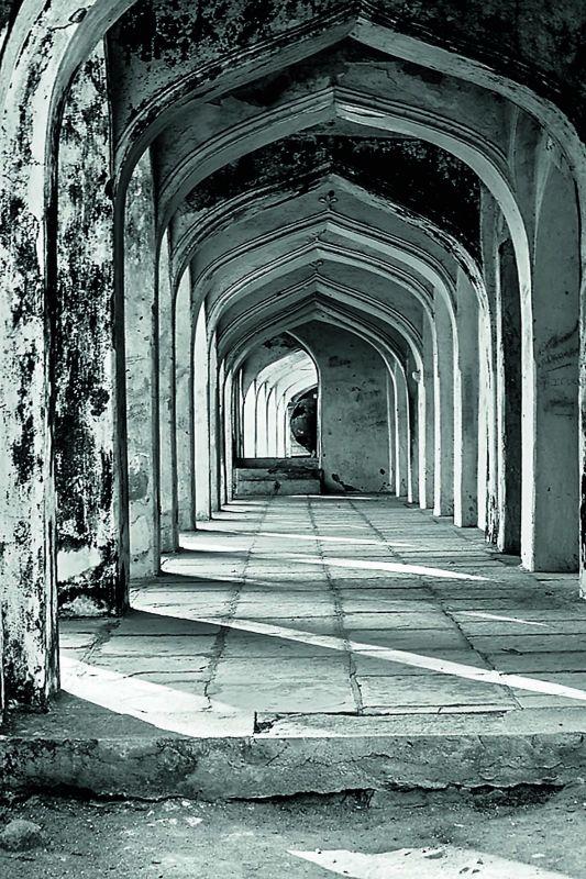 One of the corridors at Qutb Shahi tombs