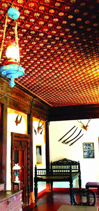 A Ghorpade Maratha House with a beautiful ceiling