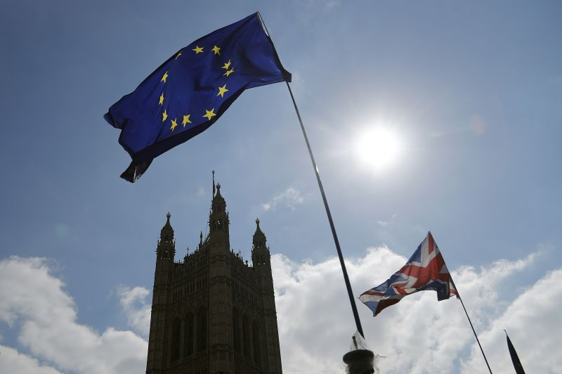 The British economy is likely to weaken as firms stop ease up on Brexit preparations now that Britain s departure from the European Union has been delayed by months, the Bank of England said Thursday, May 2, 2019. (AP Photo/Frank Augstein, File)
