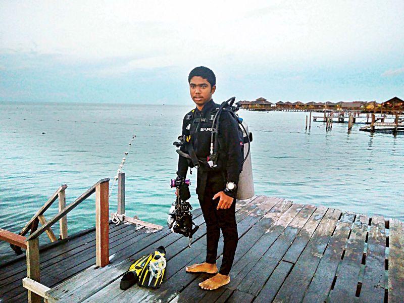 Dheeraj M. Nanda was exploring the oceans at a depth of 40m