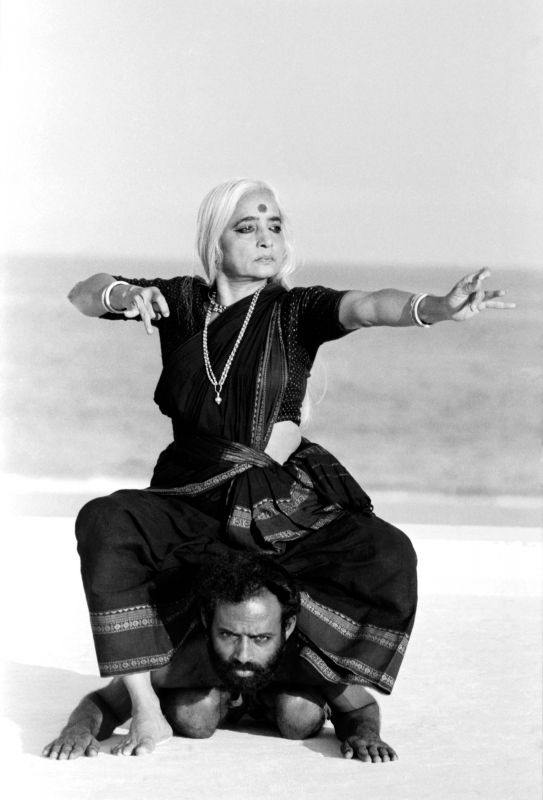 Classical dancer Chandralekha during one of her performances.