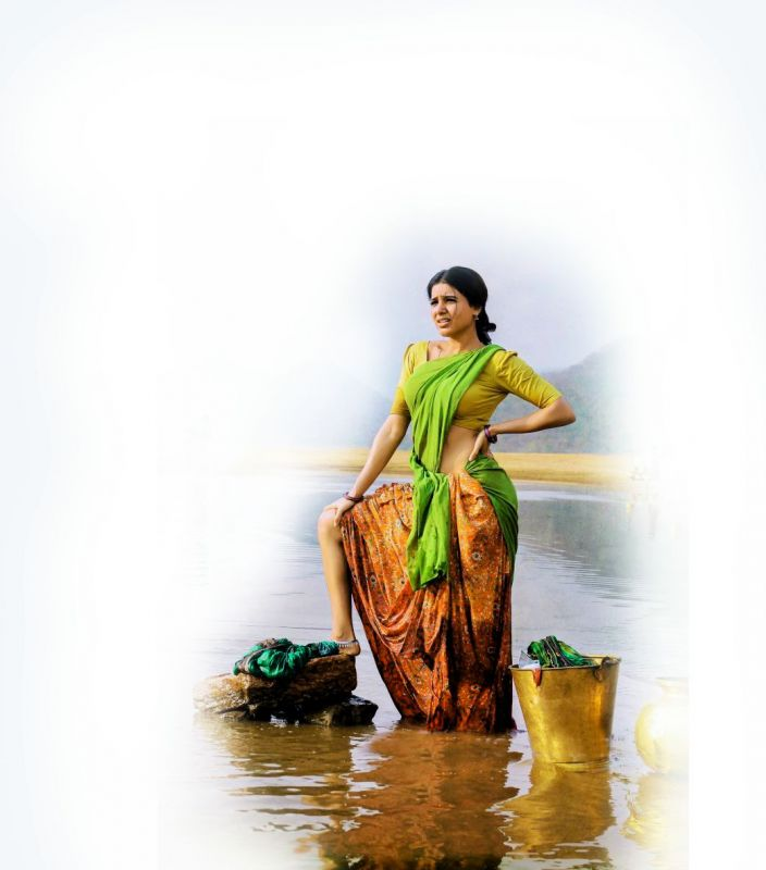 Actress Samantha Akkineni sported a rustic look in the movie Rangasthalam.