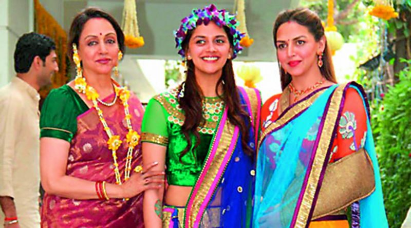 Hema Malini with daughters Esha and Ahana.