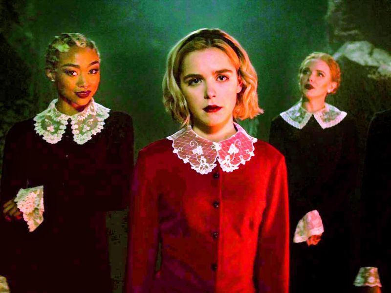 A still from Chlling Adventures of Sabrina The Witch.