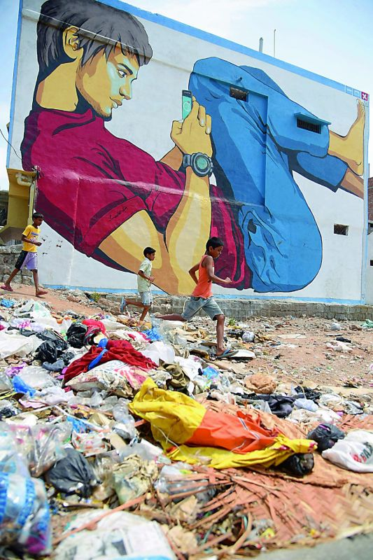 Unmindful of the conditions. Uncleared trash