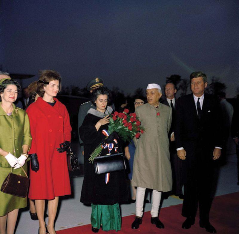 Jawaharlal Nehru with former US president John F. Kennedy, Mahatma Gandhi and Muhammed Ali Jinnah