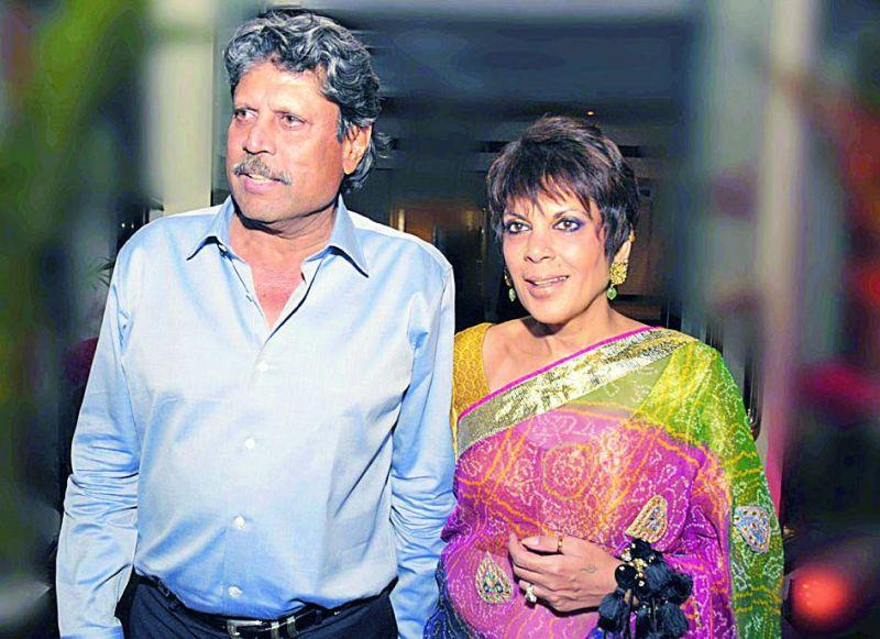 Kapil Dev with wife Romi Dev