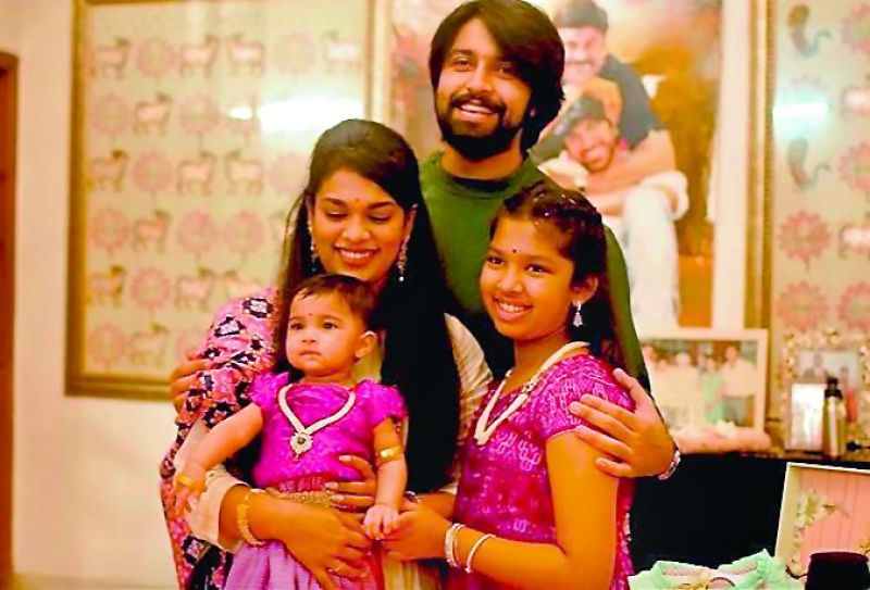 Sreeja and Kalyaan with their daughters