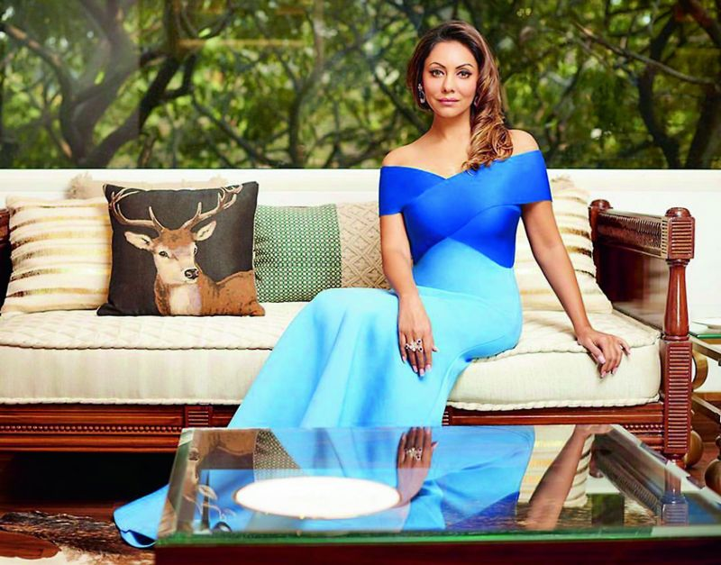 Gauri Khan in a vintage look.