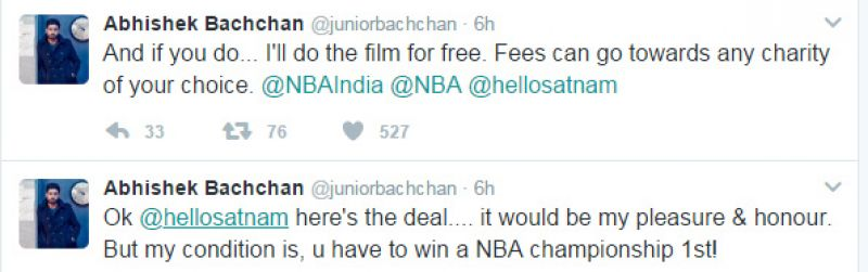 Abhishek ready to do Satnam Singh biopic for free but has only one condition