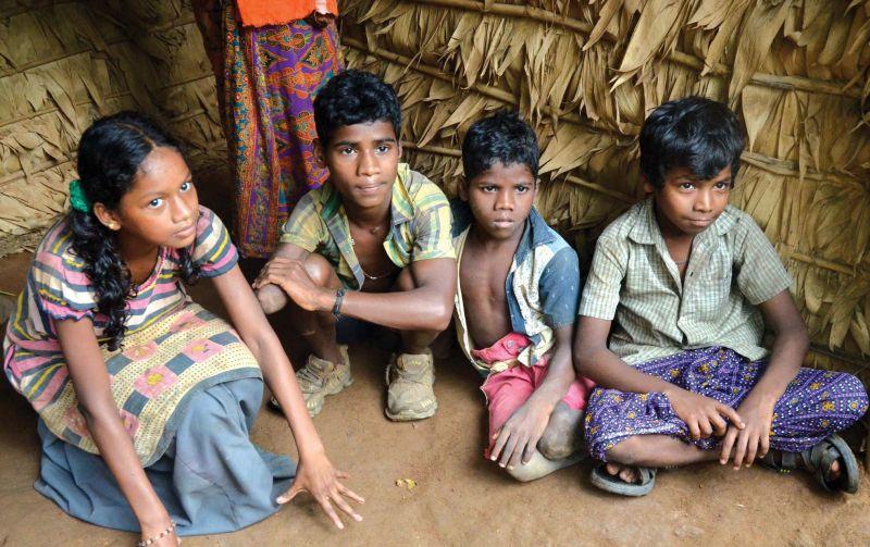 Children at Anakaal hamlet of Kottoor panchayat in Thiruvananthapuram.