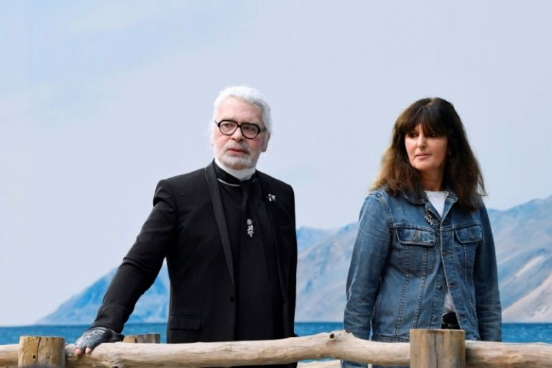 Virginie Viard, Karl Lagerfeld's right hand woman, has taken over the reins at Chanel. (Photo: AFP)