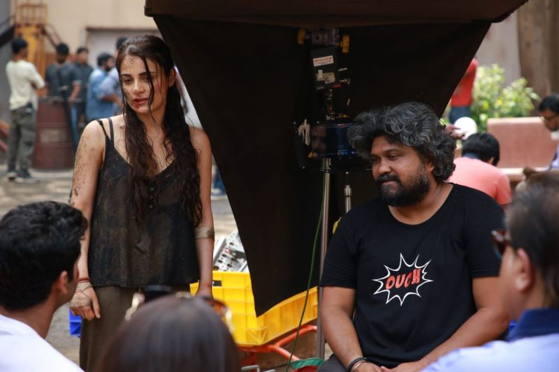 Radhika madan with director Vasan Bala.