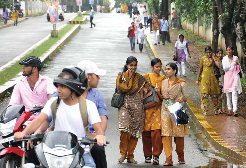Students on the campus. (file pic)