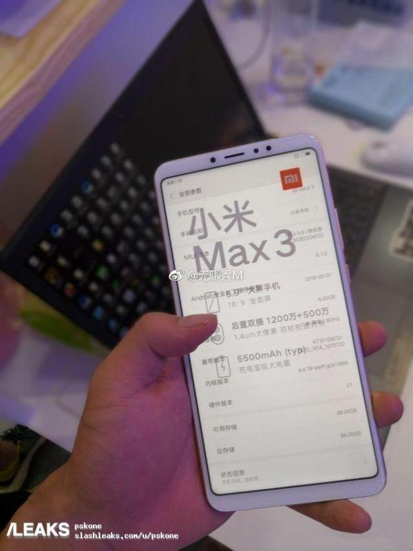 Xiaomi Mi Max 3 leaks
