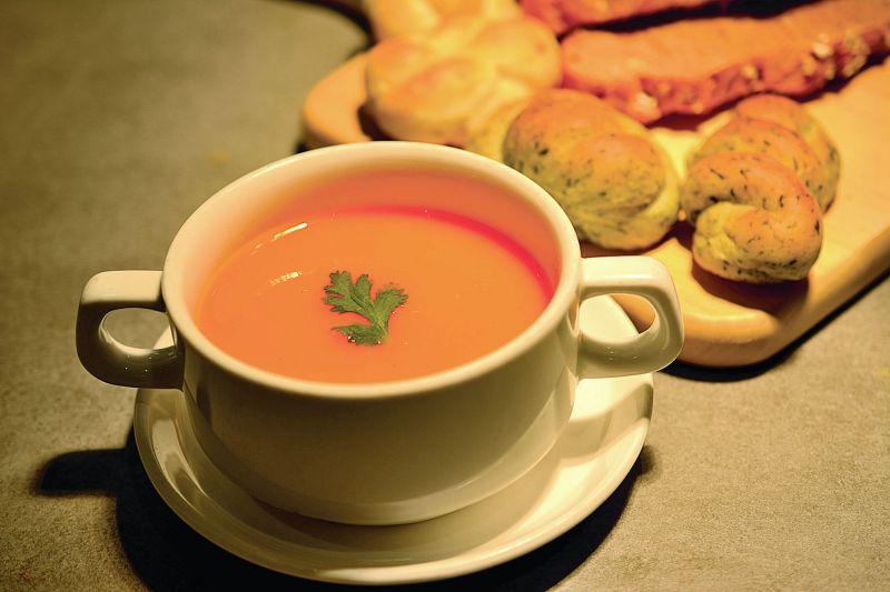 CITRUSY CARROT AND PUMPKIN SOUP