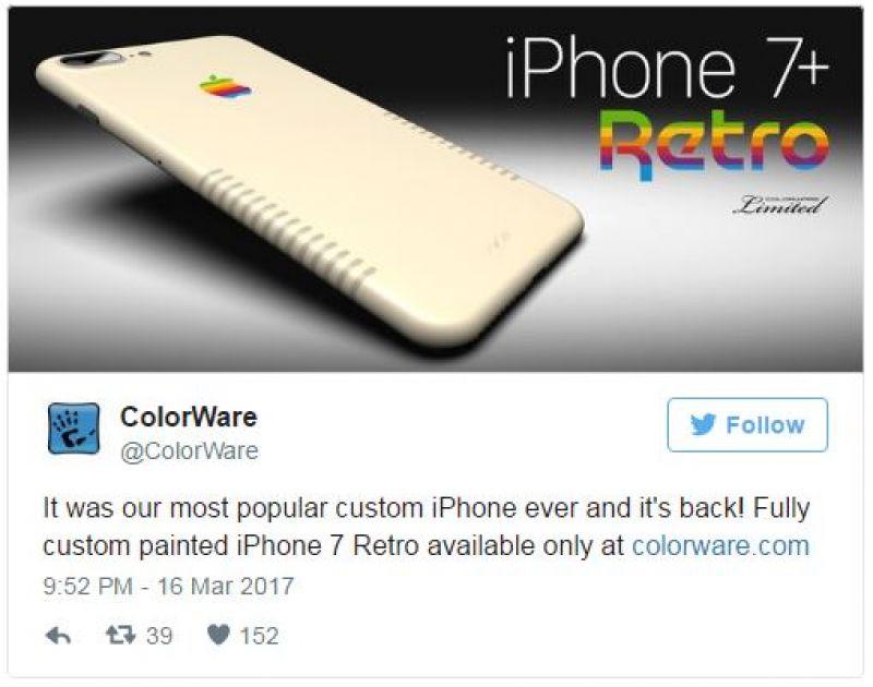 Apple Macintosh computer-inspired iPhone 7 goes on sale