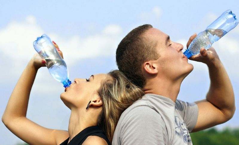 Get in the habit of drinking water by caring around a water bottle with you.