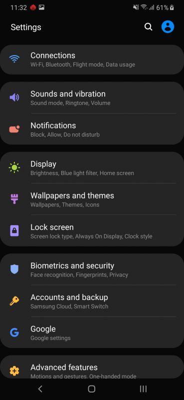 Samsung M30s screenshots