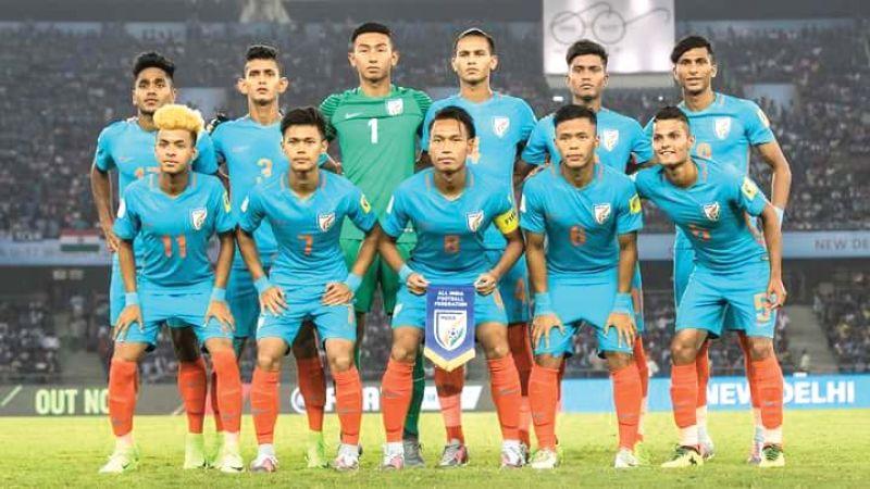 The Indian U-17 football team