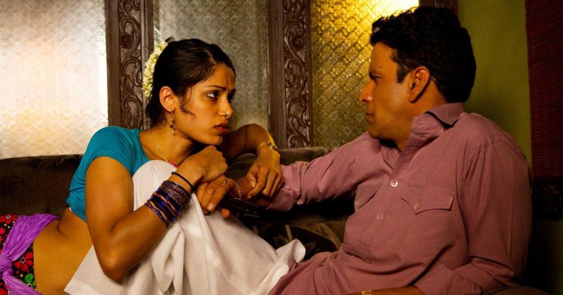 Freida Pinto and Manoj Bajpayee in 'Love Sonia'.