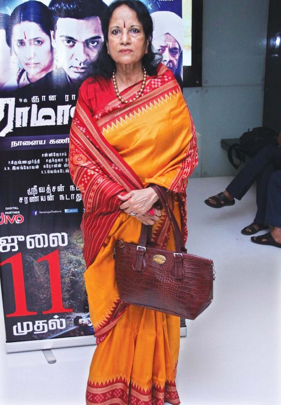 Legendary playback singer Vani Jayaram
