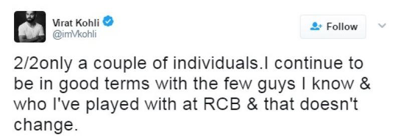 Virat Kohli, India vs Australia, Friendship comment, Virat Kohli tweet