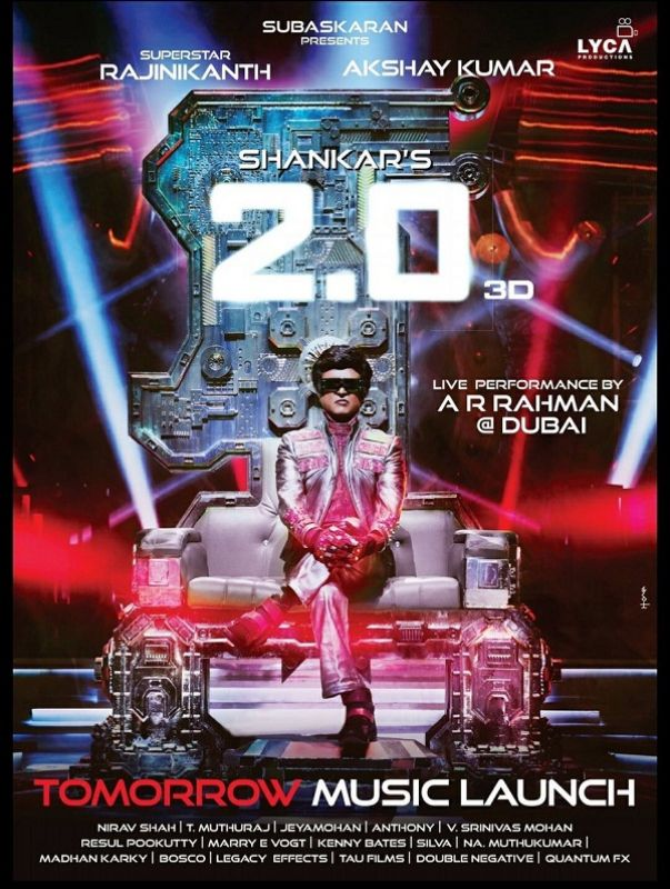 Rajinikanth in the new poster of 2.0