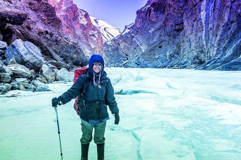 Jamila Kapsi during an expedition