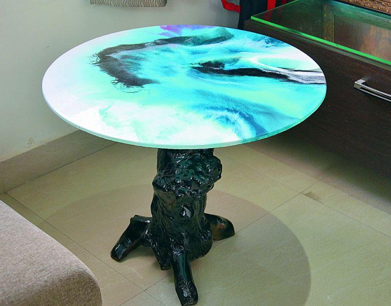 Usha's work  on a  table  top