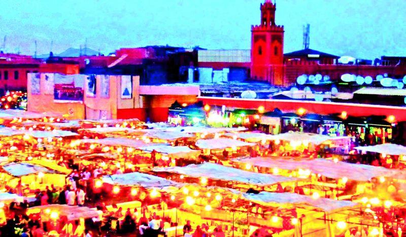 The Medina at night