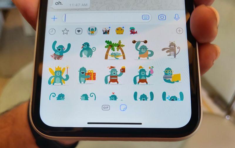 stickers whatsapp iphone