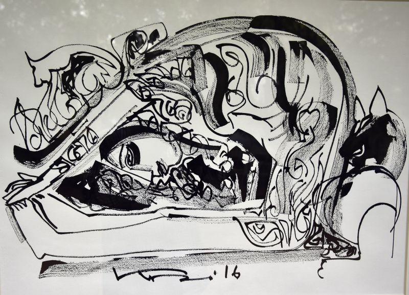 A painting by Koeli Mukherjee Ghose
