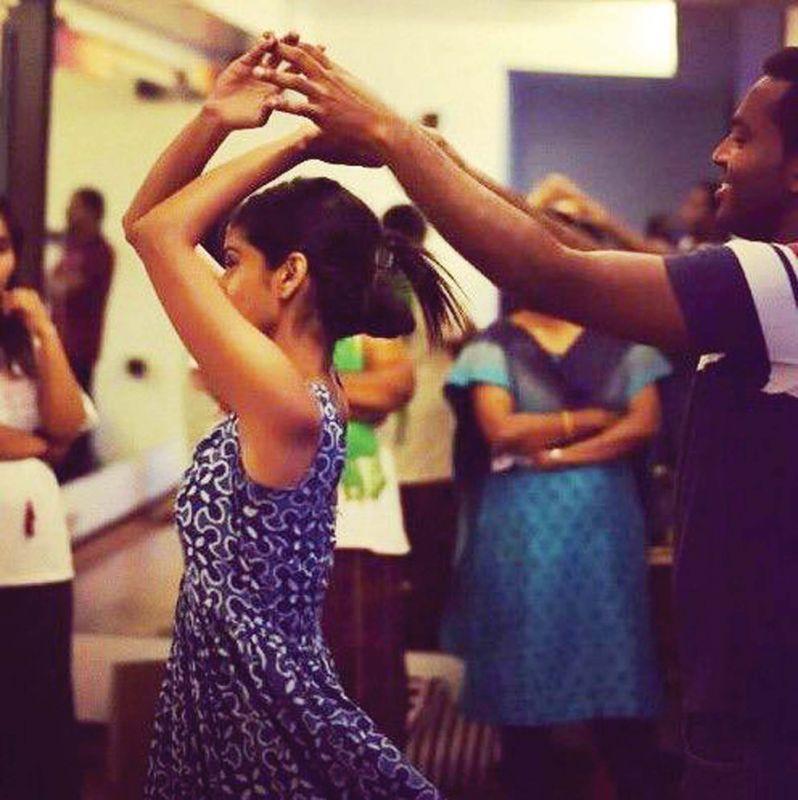 Minu Marie Mathew during her salsa classes. (Photo: Shalin John)