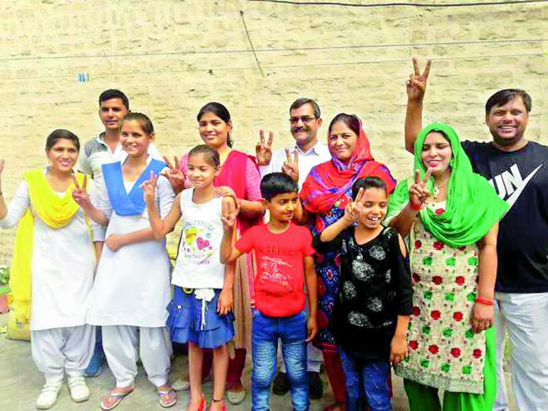 Neeraj's family in a celebratory mood after his Asian Games gold.