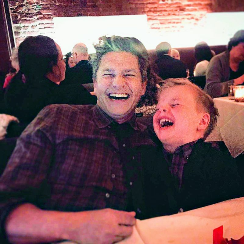 Neil Patrick Harris shared this picture of husband David and son Gideon