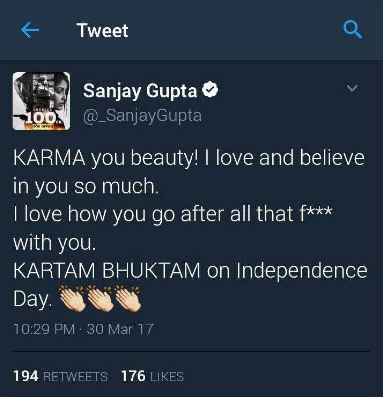 Sanjay Gupta takes jibe at Shah Rukh, deletes tweet after getting trolled