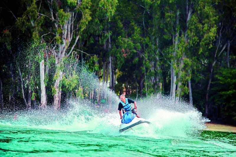 Jet skiing in Udumalpet by Camp Splendour.