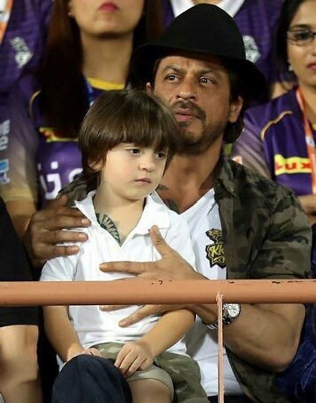 Shah Rukh and AbRam get matching tattoos as they cheer for KKR in the stands