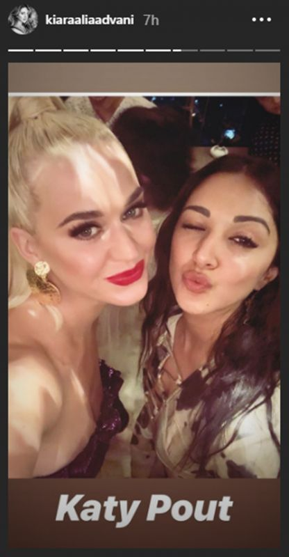 Kiara Advani with Katy Perry. (Photo: Instagram)