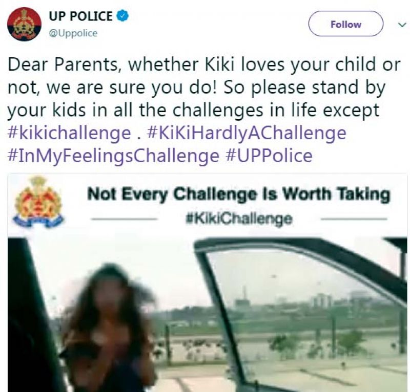 Don't go Kiki cops are watching you