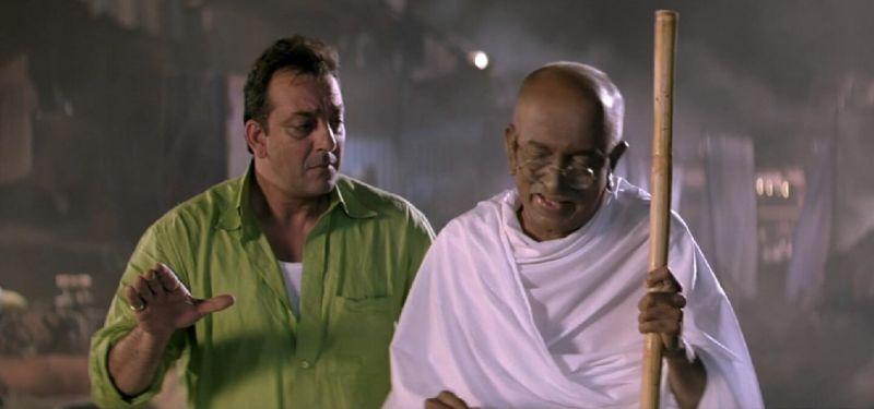 Dilip Prabhvalkar as Gandhi in Lage Raho Munna Bhaiu