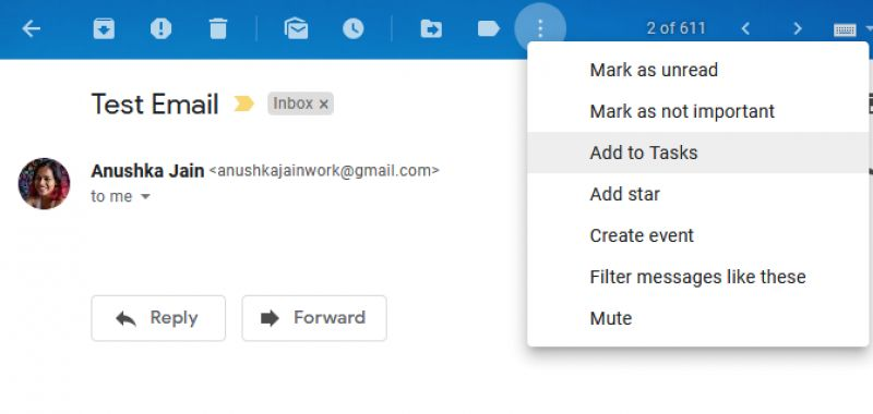 Tasks gmail