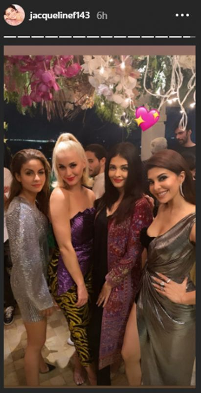 Jacqueline Fernandez, Aishwarya Rai Bachchan, Natasha Poonawalla and Katy Perry. (Photo: Instagram)